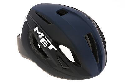 MET Strale Bike Helmet Large 59-62cm Matte Black/Blue/White