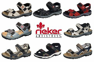 Damen Trekking Sandalen Rieker Beige Rot Schwarz Blau 68851 Outdoor Sommer