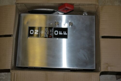 General Electric GE THN3361SS Safety Switch Stainless Steel Enclosure 30A 600VAC
