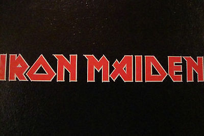 "2  IRON MAIDEN 4.5""DECALS/ STICKERS ROCK BAND MUSIC GUITAR MOTORBIKE HELMET"
