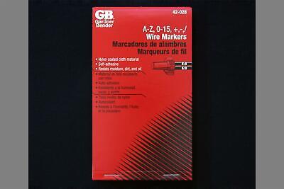 Gardner Bender 42-028 Wire Marker Booklet A-z 0-15  -