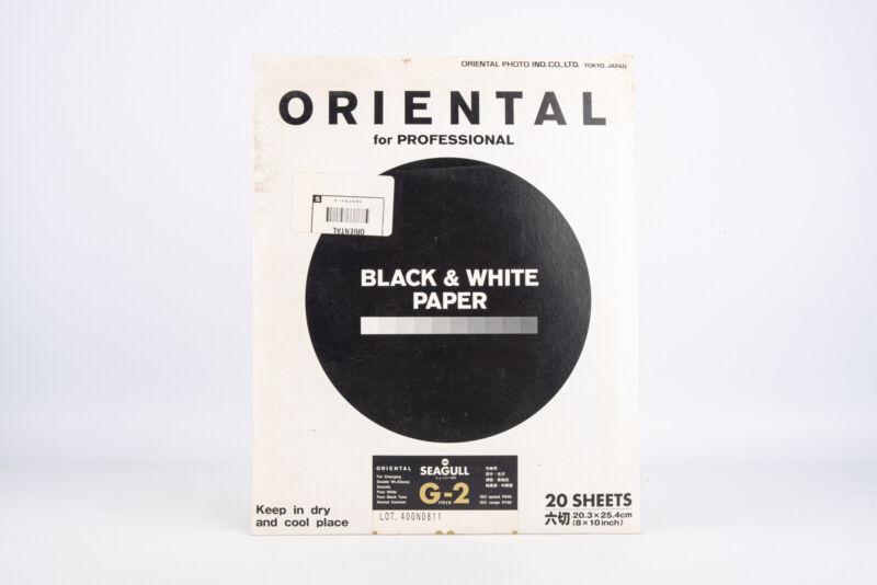 Oriental Seagull G-2 B&W Darkroom Photo Printing Paper 20 Sheets 8x10 V11