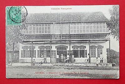 AK Kolonien Frankreich 1908 Guinea Guinée Direktionsgebäude  ( 32028