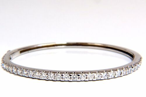 2.48ct Natural Round Diamonds Bangle Bracelet G/vs Common Prong 14kt +