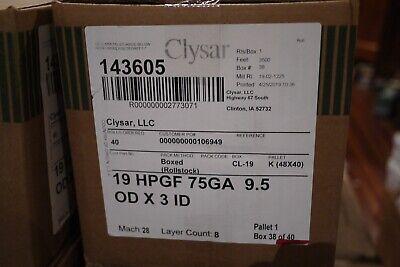 19 X 3500 Ft Clysar Heat Shrink Film Wrap Center Fold Wrap 19 Hpgf 75ga