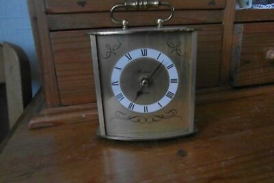 metal cased  BENTIMA quartz carriage clock
