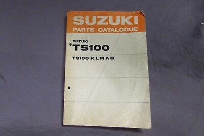 NOS SUZUKI TS100 TS 100 K L M A B PARTS CATALOGUE MANUAL SMALL