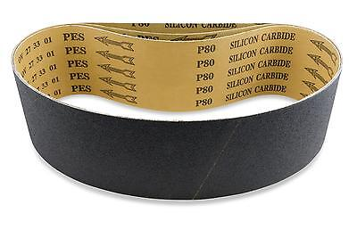 2 X 42 Inch 80 Grit Silicon Carbide Sanding Belts 6 Pack