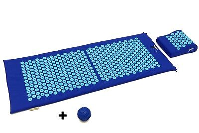 Kit d'acupression XL FITEM. Tapie+coussin +boule de massage Bleu/Turq
