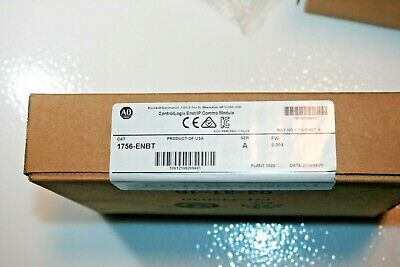 Factory Sealed Allen Bradley 1756-enbt Controllogix Ethernetip Comms Module Plc