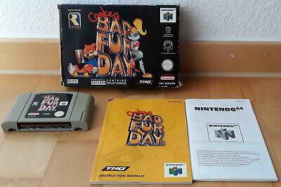 Conker's Bad fur Day * Nintendo 64 N64 (PAL) * Sehr gut CIB OVP VGA WATA Ready