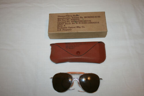 USAF Aviator Rochester Optical Co. AN6531 Sunglasses Ray-Ban A NIB #2