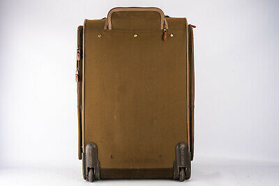 Eddie Bauer Large Rolling Suitcase Garment Travel Luggage Olive 26x16x11 V11 - $96.89