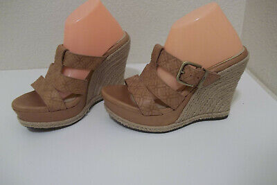 Embossed Wedge Sandals - CUTE! WOMENS UGG HEDY EMBOSSED LEATHER WEDGE SANDALS SHOES SZ 6 NICE!