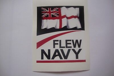 """2  FLEW NAVY 4""""  STICKERS  ROYAL NAVY  BADGES MILITARY INSIGNIA"""
