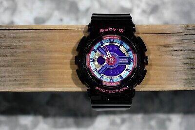 Casio Baby-G BA-112 Standard Analog Digital Ladies Watch, Clean