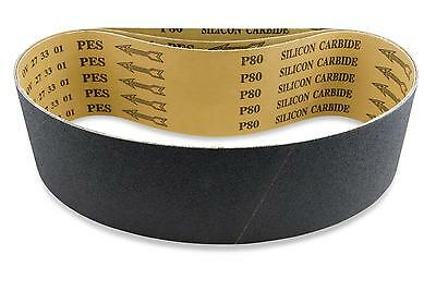 2 X 42 Inch 100 Grit Silicon Carbide Sanding Belts 6 Pack