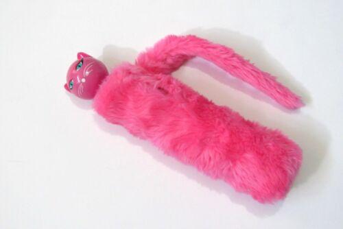 Pylones Of Paris Chapka Pink Cat Telescopic Umbrella Fuzzy Sleeve Cover Tail
