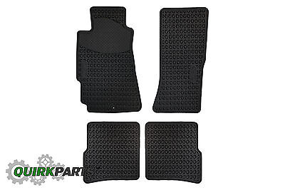 2004 2011 Mazda RX 8 All Weather Floor Mats Set of 4 Front  Rear GENUINE OEM