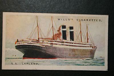 SS LAPLAND    Red Star Liner    Original 1920's Vintage Card  VGC