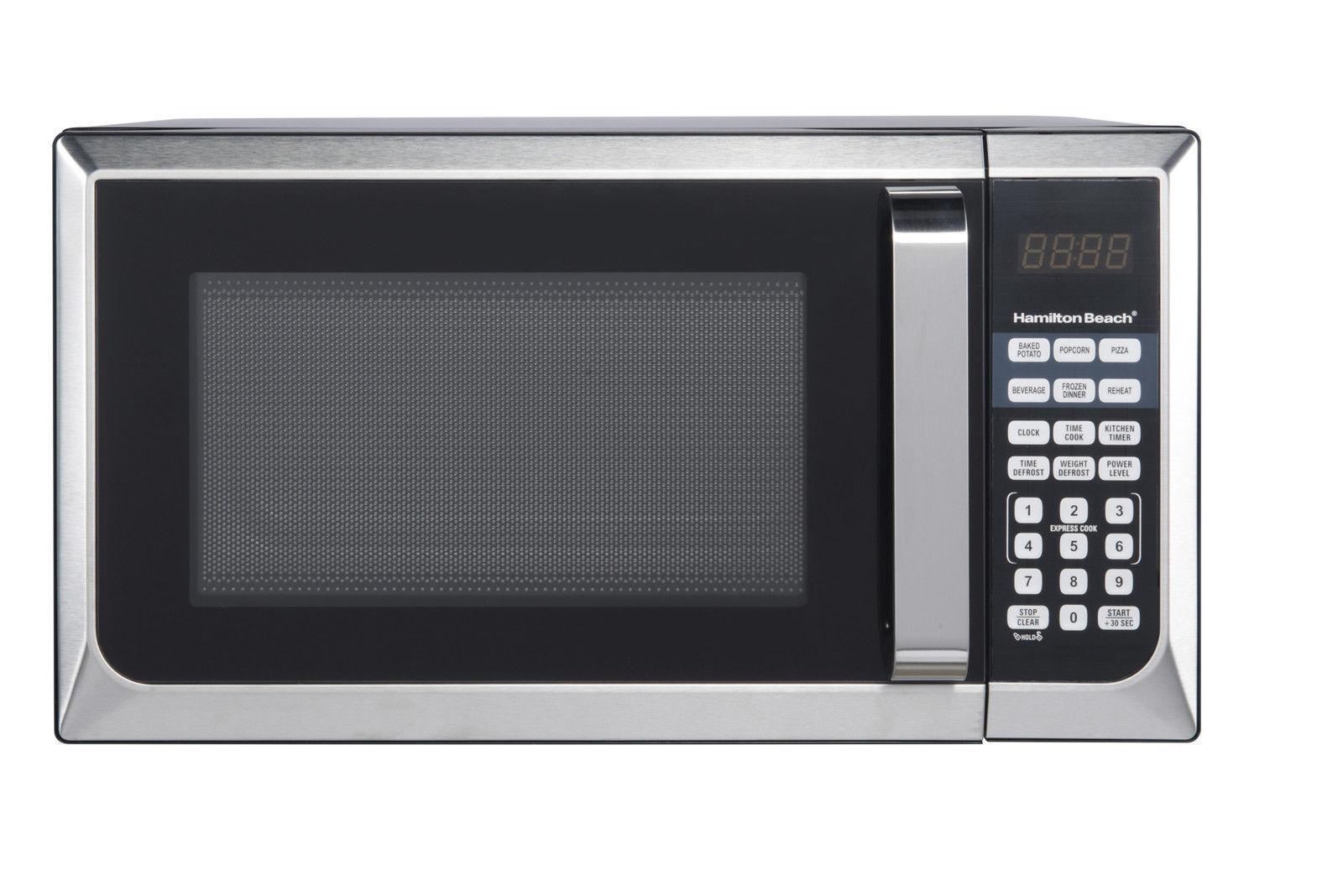 Hamilton Beach 0 9 Cu Ft Microwave Oven 900w Stainless Steel