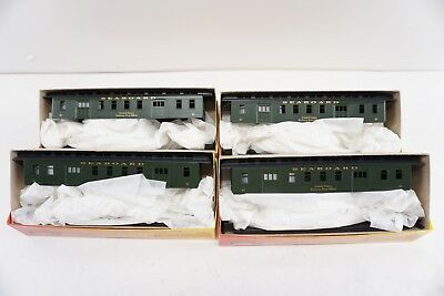 Roundhouse 50' Overland Mail Car Seaboard Air Line Railway Passenger HO Set of 4 (Overland Passenger Car)