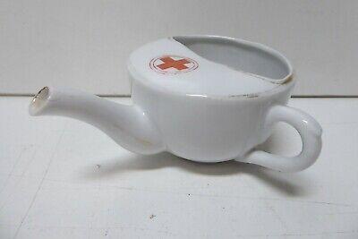 ANTIQUE PORCELAIN RED CROSS HOSPITAL MEDICAL FEEDING CUP JUG