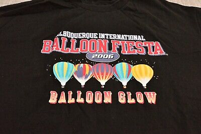 Glowing Ballons (Pre-owned Albuquerque Balloon Fiesta 2006 Ballon Glow T-Shirt Men XL)
