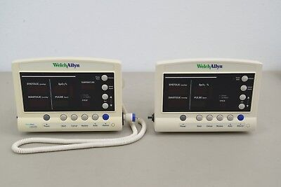 Lot Of 2 Welch Allyn 52000 Vital Signs Patient Monitor 14163-4 A12