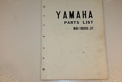Yamaha Parts Dealer - used Yamaha motorcycle original dealer copy parts list  JT1