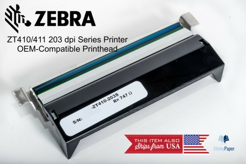 Zebra ZT410 ZT411 OEM-Compatible 203 dpi Printhead. USA Stocked & Shipped!