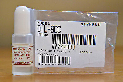 Olympus Japan Microscope Immersion Oil 8cc Nd1.516 New-in-bottle