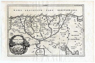 Antique map-EGYPT AND NILE DELTA-Cellarius-1731