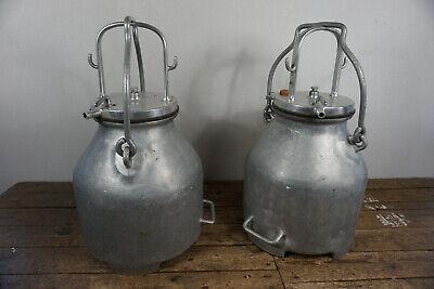 1 von 2 alte Milchkanne Melkkanne vom Bauernhof Alukanne 50er 60er Retro