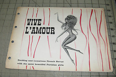 Vintage VIVE L'AMOUR French Follies New York Souvenir Booklet