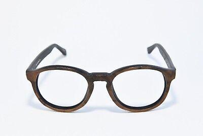 SIRE'S CROWN BRADBURY ROUND WOODEN EYEGLASS FRAMES HANDCRAFTED IN L.A. (Wooden Eyeglass Frames)