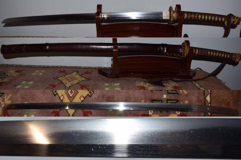 Edo Period Kanbun Katana Nihonto in WWII Gunto Koshirae Matching Serial Numbers
