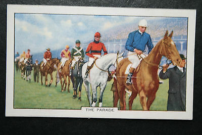 Parade of Runners  Horse Racing   Original 1930's Vintage Illustrated Card # VGC