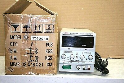 Mastech Variable Regulated Linear Dc Power Supply 60v 3a Hy6003d