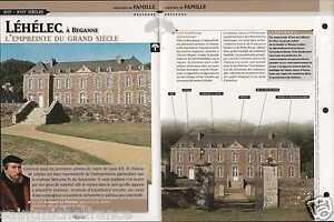 """Castle Château de Léhélec Beganne Morbihan Bretagne France FICHE FRANCE - France - PORT GRATUIT A PARTIR DE 4 OBJETS BUY 4 ITEMS AND WORLDWIDE SHIPPING IS FREE EXCEPT USA, CANADA, AMERICA ONLY TRACKING MAIL FICHE TECHNIQUE, SPECIFICATION SHEET PAPIER GLACÉ, GLAZED PAPER RECTO-VERSO FORMAT 35 CM X 23,5 CM SIZE : 12.06"""" X 8.28""""  - France"""