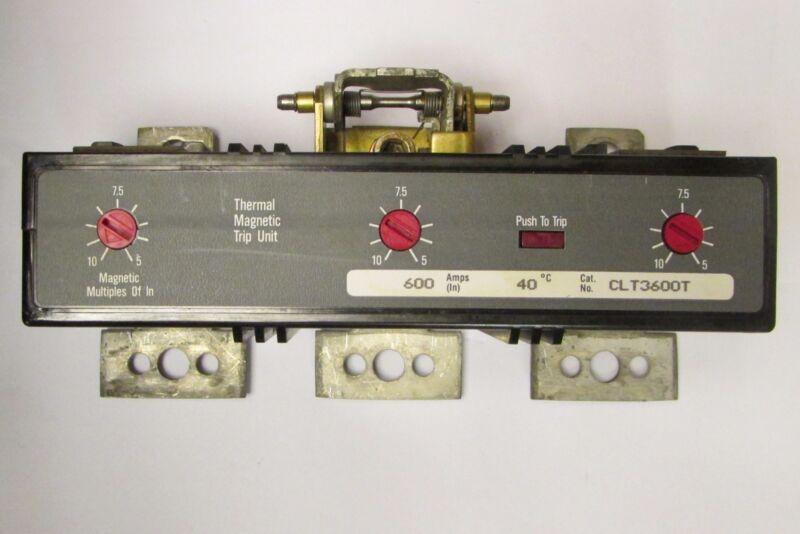WESTINGHOUSE CUTLER HAMMER CHALLENGER CLT3600T L Frame Trip Unit 600A 1493D91G21