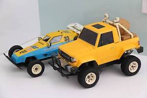 Vintage RC Cars - Marui Hunter and Tamiya Pajero Newcastle East Newcastle Area Preview