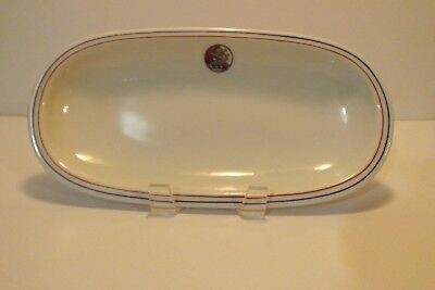 Antique Lamberton Scammell China Penn Celery Tray Lion Crest Oval Relish Dish