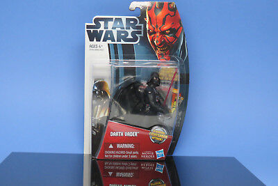 Habro Star Wars DarthVader with Slashing Lightsaber New Includes Card with Stand