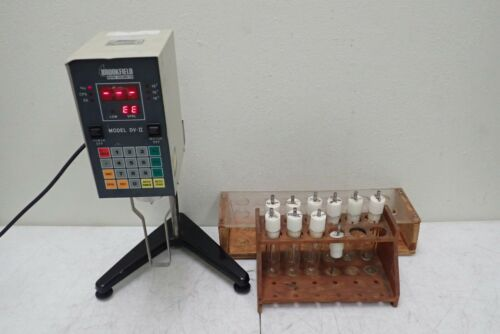 Brookfield Model DV-II LVTDV-II Digital Viscometer with 10 Spindles & Extras