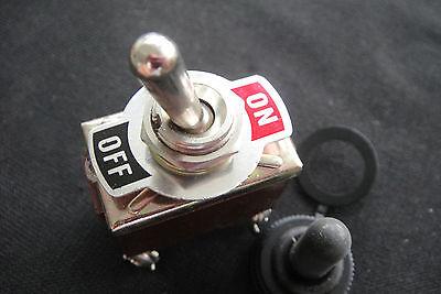 Heavy Duty Lock Toggle Switch 12v Dc 110v-250v Onoff Car Dash Light Metal Spst
