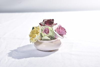 "Royal Adderly Floral Bone China England 3"" Bowl of Roses ""Language of Flowers"""