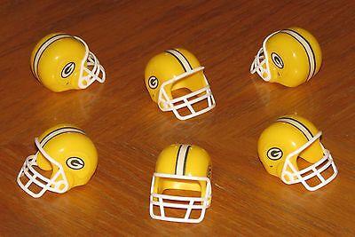 Green Bay PACKERS 6 Mini Team Helmet Lot NFL football party favors gumball (Mini Football Helmets Party Favors)