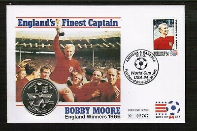Bobby Moore Antigua & Barbuda - Turks & Caicos 5 Crowns Coin Cover