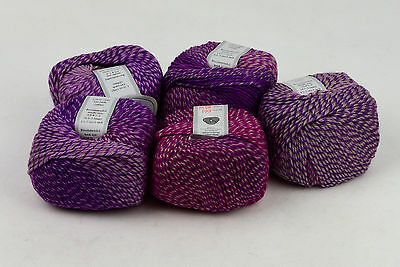 light worsted DK variegated color 100% wool superwash yarn purple pink color